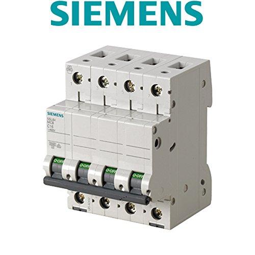 Siemens 5sl6 - Automático magnetotérmico 400v 6ka 4 polos c 16a