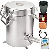Best gas furnaces - 0-28lbs(12.8KGS )Gas/ Propane Metal Melting Furnace Kit, Stainless Review