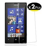 NEW'C Lot de 2, Verre Trempé pour Nokia Microsoft Lumia 520, Film Protection écran - Anti Rayures...