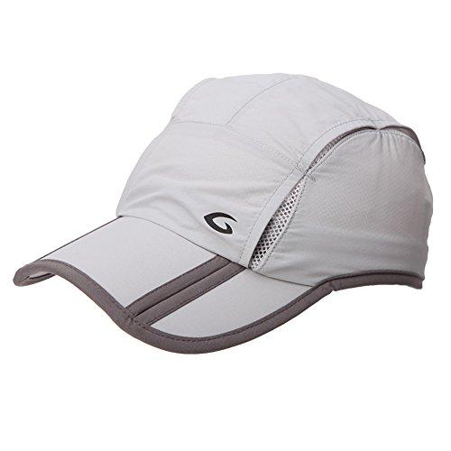 Comhats Unisex schnell-trocknend faltbar Sport Baseball Sonnen Cap UV Schutz, M, 89056_Hellgrau
