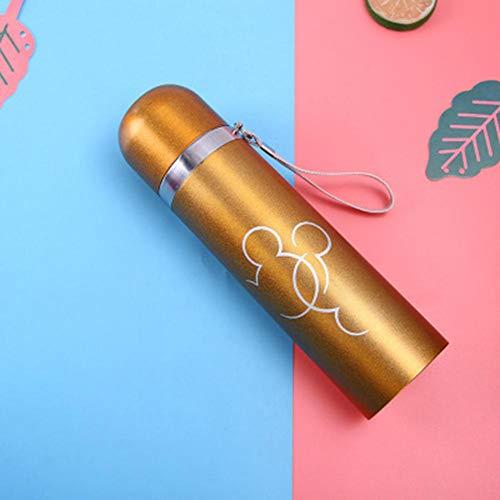 dewdropy 500ML Saugnapf Benutzerdefinierte Edelstahl Vakuum Kugel Cartoon Student Wassertasse