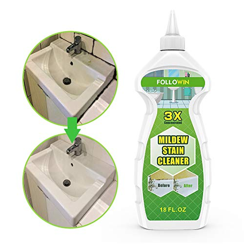 Followin Home Grout Sealant Stain Cleaner and Whitener Gel for Tiles Bath Sinks Showers 18 oz