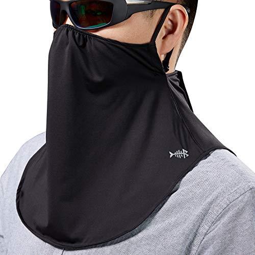 Bassdash Máscara UV UPF 50+ con trabillas ajustables para las orejas, protección solar, polaina para el cuello