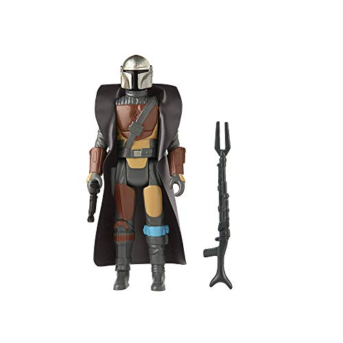Star Wars Retro Collection The Mandalorian Toy 3.75-Inch-Scale Collectible Action Figure with Accessories, Toys for Kids Ages 4 and Up