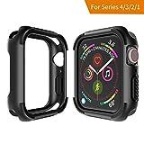 Seiaol Für Apple Watch 4/3/2/1 Hülle, [Rugged Armor] TPU Case für Apple Watch Series 4/3/2/1...