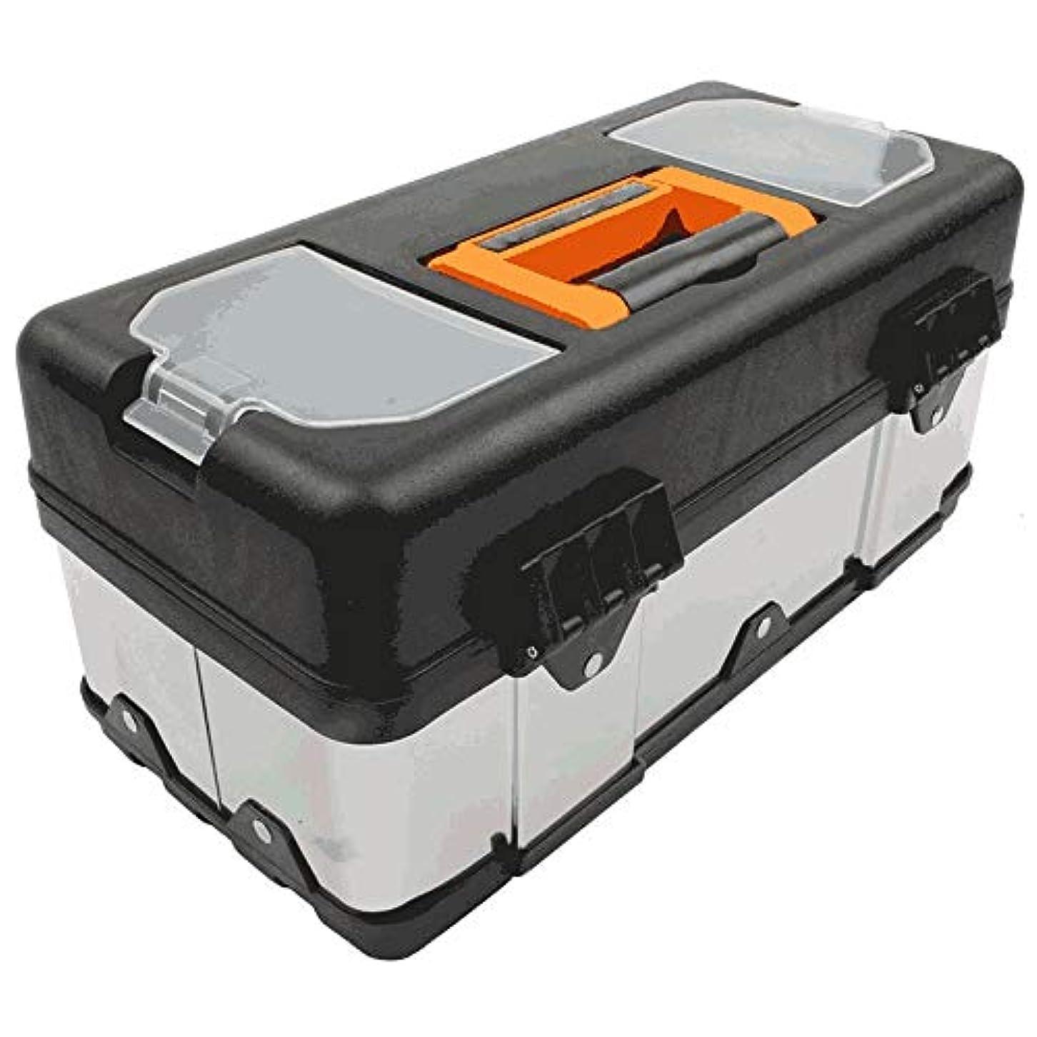 教義レザーエネルギーGYZ 工具箱、良質のステンレス鋼の工具箱、家の修理の電気技師の工具箱 plastic (Size : 14 inches)