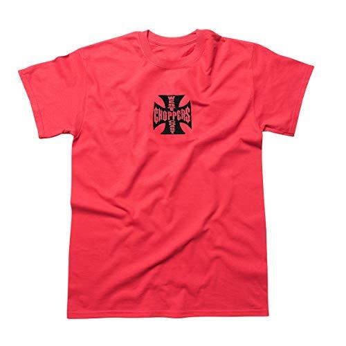 WEST COAST CHOPPERS Herren T-Shirt Cross ATX Red/Black, Größe:4XL, Farbe:red/Black
