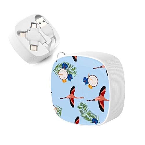 USB-Kabel Flamingo Orchid Coconut Einziehbares Schnellladekabel Multi-USB-Ladekabel 3a USB-Anschlussadapter Für iPhone, Android, TPye-C Universal Interface und andere iPhones und Tablets