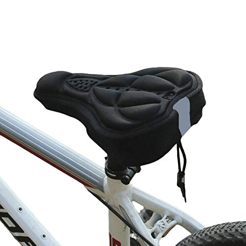Seeds Funda de Asiento de Almohadilla de Almohadilla Suave 3D para Bicicleta de montaña Cierres de sillín