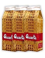 Quarta Caffè Stuoia koffiebonen. 3 verpakkingen van 500 g. bonen - Italiaanse Apulische koffie uit Salento geproduceerd en verpakt in Salento.