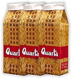 Caffè Quarta Stuoia in grani. N. 3 confezioni da 500 g. Caffè italiano pugliese salentino prodotto e confezionato in Salen...