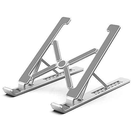 Ghaike Soporte para ordenador portátil, aleación de aluminio, base de refrigeración de computadora, diseño plegable, puede ajustar la altura arbitrariamente.