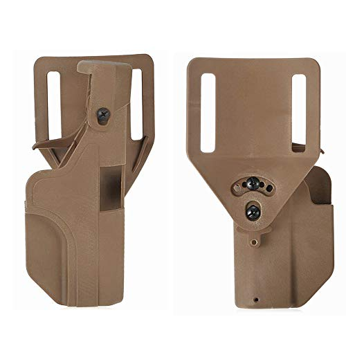 FIRECLUB Quick Release Right Hand Automatic Loading and Locking Waist Holster for Pistol Holster (Sand)
