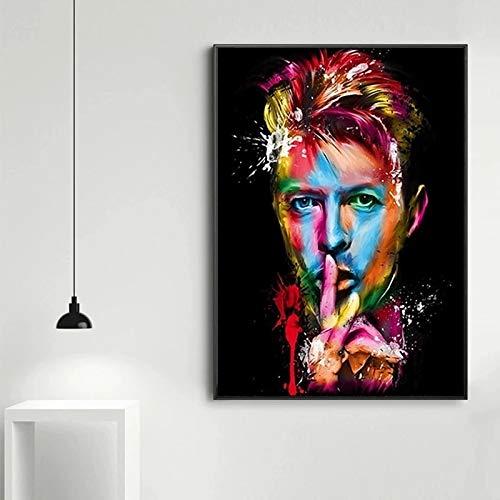 JHGJHK David Pop Music Legend Music Singer Superstar Pintura al óleo Sala de Estar Decoración de la habitación Familiar Pintura