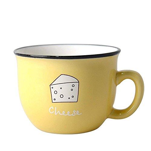 Taza de cerámica personalizada. color Amarillo