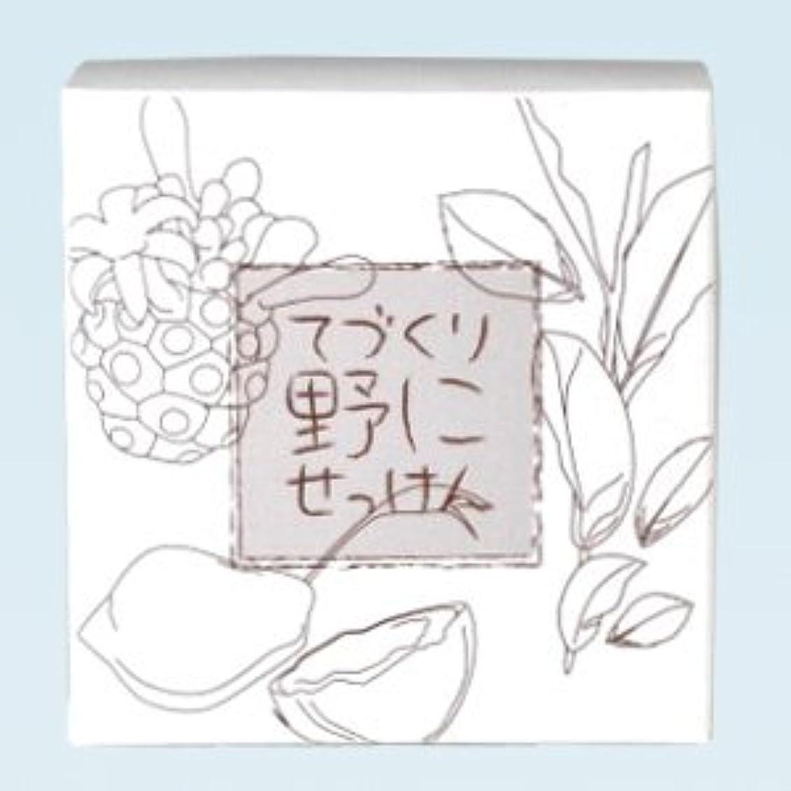 最後のドット見出し緑茶ノニ石鹸 てづくり野にせっけん(115g)