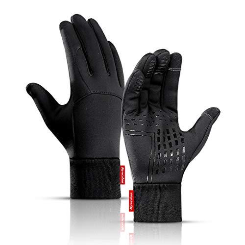 Outdoor-fahrradhandschuhe Winterwärme Unisex-Touchscreen rutschfeste Vollfingerhandschuhe Winddicht Wasserdicht Plus Samt Eislaufen Schneeskihandschuhe