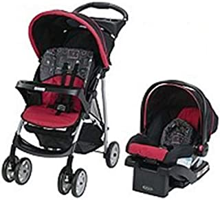 Graco Travel System Stroller, Car Seat With Bag, Black/Magenta, Pack of 1