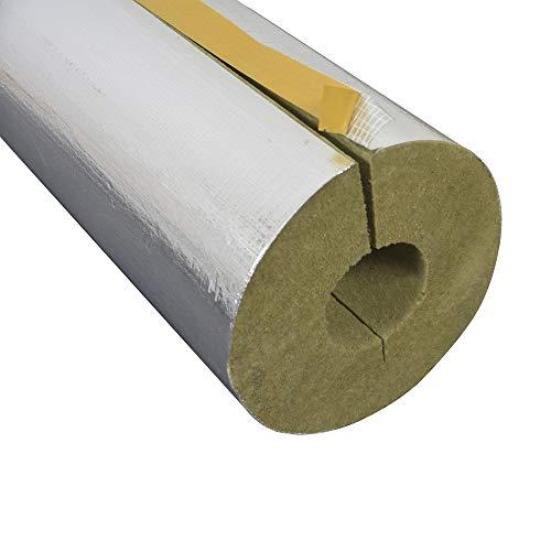 Rohrschale Rohrisolierung Steinwolle Alukaschiert 0.040 W/MK (Steinwolle, 15 x 20 mm x 1 Meter)
