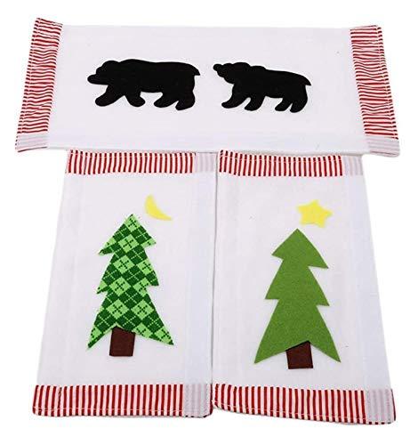 XIAOGING Albero di Natale, Black Bear elettrodomestico da Cucina Frigorifero Teli Maniglia della Porta Idea Decorazioni di Natale