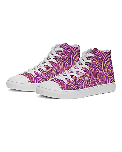 High Top Sneakers for Women Van Gogh Starry Sky Printed Canvas Running Shoes Fashion Casual Walking Shoes