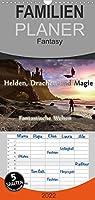 Helden, Drachen und Magie - Familienplaner hoch (Wandkalender 2022 , 21 cm x 45 cm, hoch): 12 wundervolle Fantasybilder, die sie durch das Jahr begleiten. (Monatskalender, 14 Seiten )