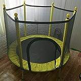 LuoKe Trampoline Domestique Sports Intérieurs et Extérieurs avec Boîtier de Sécurité Filet Mini Poignée Trampolines pour Enfants