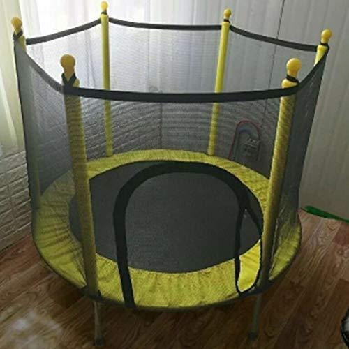 LuoKe Trampolín Deportes domésticos Interiores y Exteriores con Caja de Seguridad Manijas de Red Mini Trampolines para niños