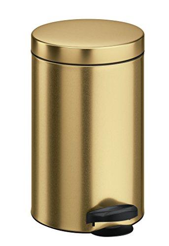 Meliconi 14014903900Abfalleimer, Stahlblech mit Eimer, Metall, Gold, 25x 25x 39cm