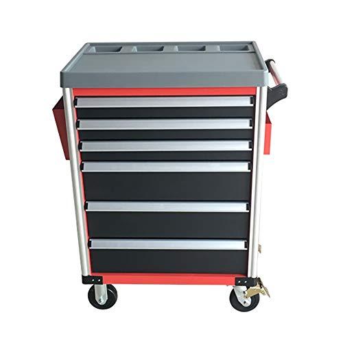 YLiansong-home Carro Rodante Cabinet Garaje Carro de Acero de 6 cajones de Almacenamiento de Herramientas de Bricolaje Casa Trabajo Taller Pecho Multifunción (Color : Red, Tamaño : 80x50x104cm)