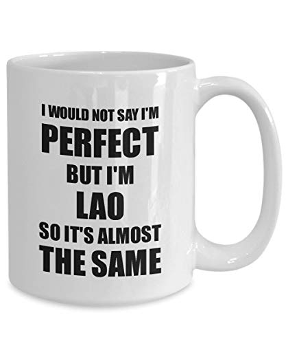ZonaloDutt Lao Becher lustige Laos Geschenkidee für Männer Frauen stolz Zitat im perfekten Gag Neuheit Kaffee Tee Tasse lustige Lao Geschenk für Lao Geschenk