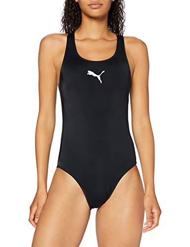 PUMA Women's Damen Badeanzug Racerback, Schwarz, S