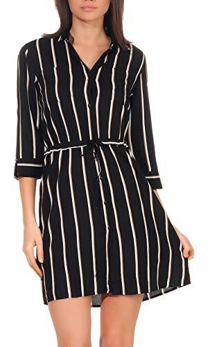 Only Onltamari 3/4 Shirt Dress Wvn Noos Vestido, Black, 36 para Mujer