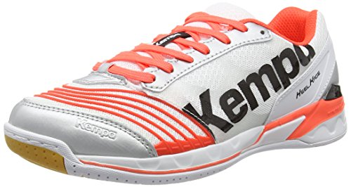 Kempa Kempa Damen Attack Two Women Handballschuhe Mehrfarbig (weiß/Fluo rot/Silber) 37.5 EU