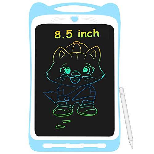 AGPTEK Tavoletta Grafica LCD Scrittura 8.5 Pollici Colorato, con Pulsante di Blocco, Lavagna da Disegno Portatile per Bambini Studenti Blu