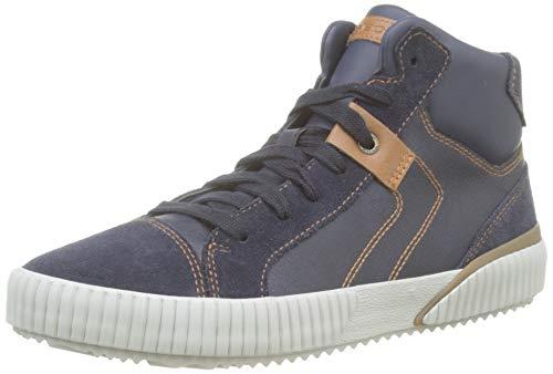 Geox Jungen J Alonisso Boy D Hohe Sneaker, Blau (Navy/Lt Brown C4220), 31 EU