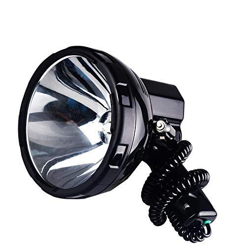 JSJJAUA Faroles de Mano Super Luminoso 12V 220W HID H3 proyector Portable for la Caza, Camping, vehículo, 35W / 55W / 65W / 75W / 100W / 160W Reflector (Emitting Color : 100W)