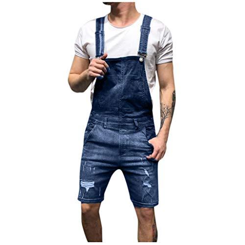 Heren latz jeans overall korte broek Loose Fit goedkope tuinbroek jeanslatbroek werkbroek jeans jumpsuit overall shorts lichtwash bretels korte jeansbroek denim korte korte korte broek vrije tijd