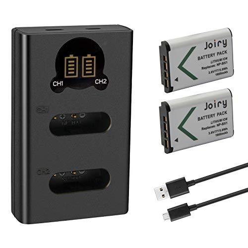 2 X NP-BX1 Batería de Repuesto y Cargador Dual Compatible con Sony...