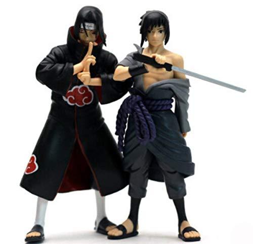 EASTVAPS Juguete 2 Piezas Anime Uchiha Sasuke Naruto Brothers vs Sasuke Uchiha Itachi Figura de Juguete