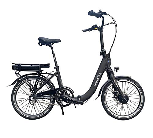 Mobilemaster Light E-Bike 20 Zoll E-Faltrad Klapprad 19kg 36V 80km (Schwarz mit Bewegungssensor)