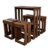 Mesa y Taburetes hecho a mano con madera de Palets