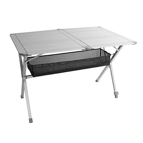 Alu Rolltisch Campingtisch Titan Space 2, geeignet für 6 Personen, 140x80xH70cm, Aluminium