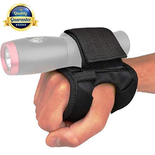 Tonelife Guante Goodman 01 de nailon suave para mano y brazo, ajustable con cinta mágica y diámetro máximo de 4 cm para linterna LED, antorcha de buceo (sin antorcha)