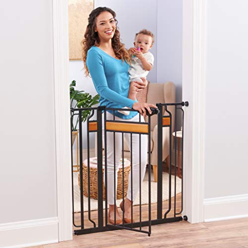 Regalo Home Accents Extra Tall and Wide Baby Gate, Bonus Kit, Includes Décor Hardwood, 4-Inch...