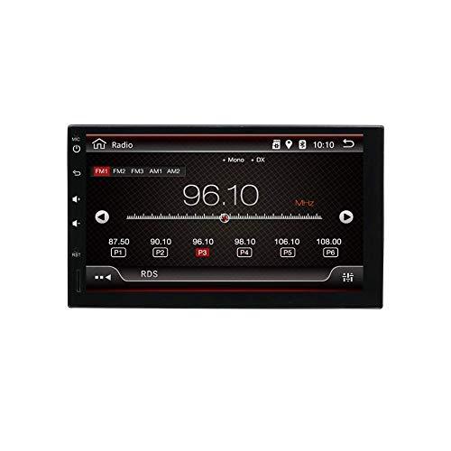 KAUTO Navegación de Radio Universal estéreo de Coche de Doble Dinar Android 9.0 |2G + 32G |Cámara de Respaldo Gratis |7 Pantalla táctil HD 1024 * 600 |Admite Dab + / Google/Volante/GPS/WiFi/BLU