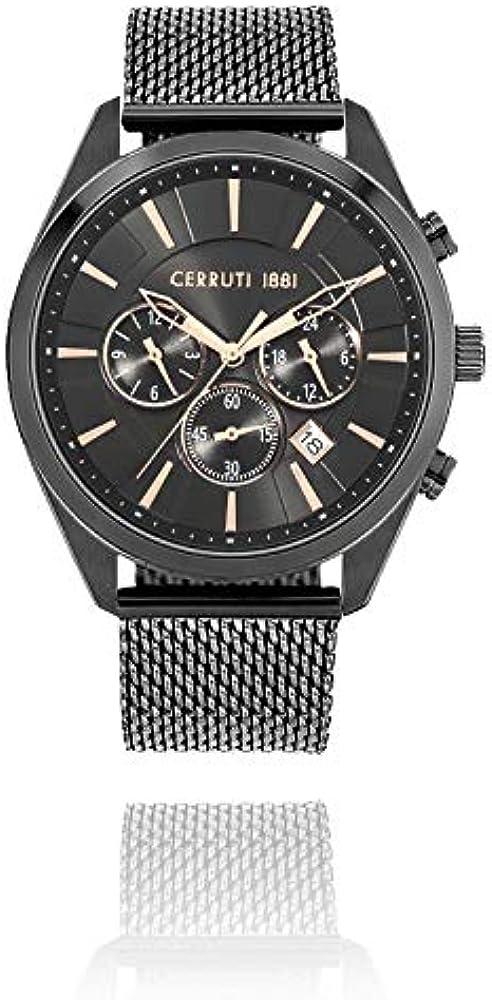 Cerruti,orologio,cronografo per uomo,in acciaio inossidabile in pvd nero CRA28003