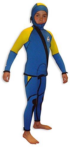 Kynay - Traje de Descenso de barrancos niños, Talla c6, Color Azul y Amarillo.