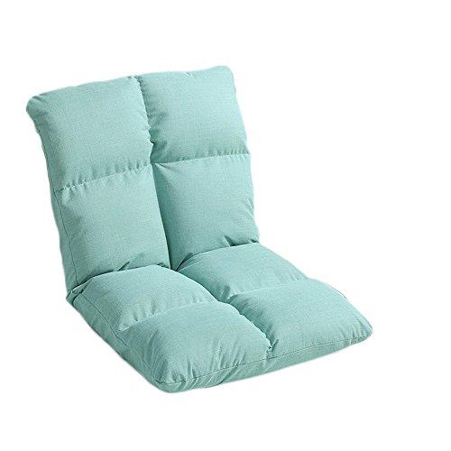 L-R-S-F Simple paresseux canapé en lin unique pliable dortoir ordinateur chaise chaise dossier chaise (Couleur : Mint green)