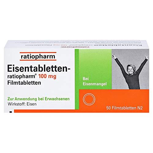 EISENTABLETTEN-ratiopharm 100 mg Filmtabletten 50 St Filmtabletten